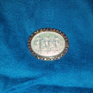 Vintage Kirk's Folly The Three Graces Pin